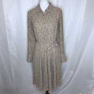 Nanette Lepore Animal Print Shirt Dress